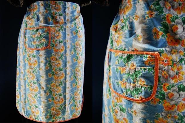 Blue hoop la apron
