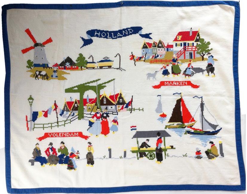 cross stitch americana tablecloth