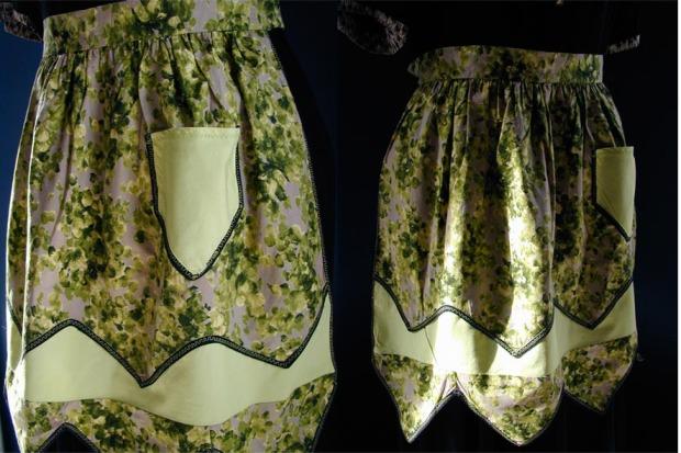 green zigzag apron